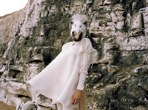 Emma Macfarlane, Judith Erwes, Fashion Stylist, Horse head, Horse Fashion, Animal Fashion, Nylon Magazine,